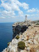 Lighthouse at Cap De Cavalleria — Stock Photo