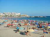 Beach in Benidorm — Stock Photo