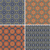 Chinese antique seamless patterns — Stock Vector