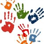 Hands stamps — Stock Vector