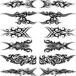 Maori tribal tattoo — Stock Vector
