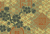Traditional Oriental style wallpaper — Stock Vector