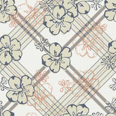 Seamless hibiscus flower pattern — Stock Vector