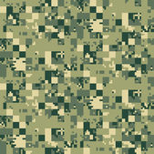 Digital camouflage seamless pattern — Stock Vector