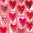 Hearts vector seamless  pattern - Stock Vector