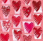 Hearts vector seamless pattern — Stock Vector