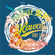 Hawaii the paradise Islands — Vector de stock