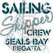 Stock Vector: Sailing crew