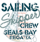 Sailing crew — Stock Vector