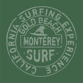 California surfing company — Stock Vector