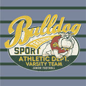 Bulldog football team — Stockvektor