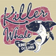 Royalty-Free Stock Vector Image: Killer whale badge