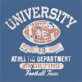 University football athletic dept. — Stock Vector