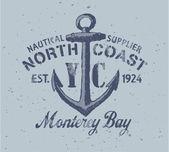 Nautical graphic — Stock Vector