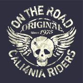 California motorcycle riders team — Stockvektor