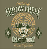 Arrow Creek the great outdoor — Stockvektor