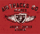 Air tracks heroes badge — Stockvektor