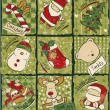 Funny Christmas patchwork elements — Stockvector