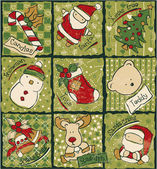 Funny Christmas patchwork elements — Stockvektor