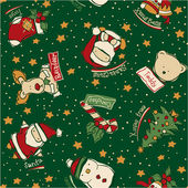 Funny Christmas patchwork elements — Stock Vector