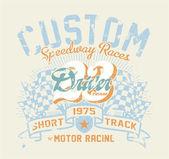 Motor race contest — Stock Vector