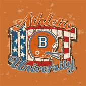 American football university athletic dept. — Stock Vector