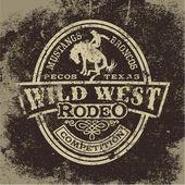 Wild west rodeo — Stock Vector