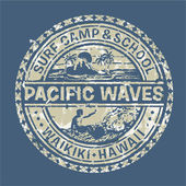 Pacific waves surf camp — Stockvektor