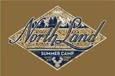 North Land summer camp — Stock Vector