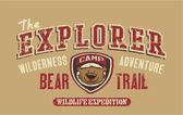 Bear trail outdoor adventure — Stock Vector
