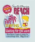 California surfing boy — Stock vektor