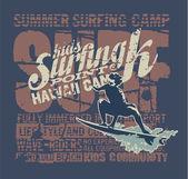Hawaii surfing camp — Vecteur