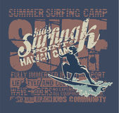 Hawaii surfing camp — Stockvector