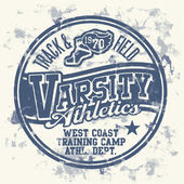 Varsity athletics — Vector de stock