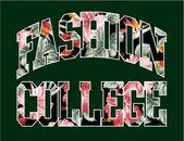 Moda Koleji — Stok Vektör