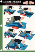 Sürünerek muharebe egzersiz ayı — Stok Vektör