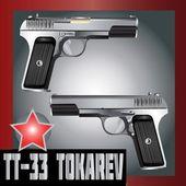 TT Pistol Tokarev USSR — Stock Vector