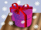 Christmas Heart gift — Stock Vector