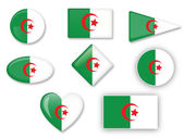 Algerian flag set — Stock Vector