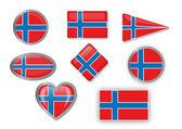För norsk flagg — Stockvektor
