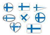 Finnish flag — Stock Vector