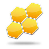 Logo bee — Stock Vector