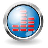 EQ button — Stock Vector