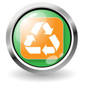 Dispose button — Stock Vector