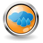 Schaltfläche regen — Stockvektor