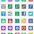 Windows 8 Icons - Metro Style - Stock Photo