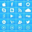 Windows 8 social media iconen — Stockvector