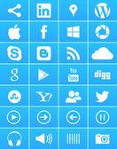 Windows 8 Social Media Icons — Stock Vector