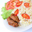 Fried Rice and Beef — Stock Photo #16847245