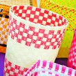 Various color plastic basket — Stock Photo
